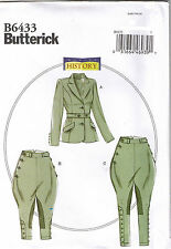 Edwardian Riding Breeches Jacket Jodhpurs Costume Sewing Pattern 14 16 18 20 22