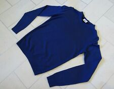 LACOSTE BLUE MERINO WOOL SLIM FITTING SWEATER / JUMPER SIZE 3 EXTRA SMALL