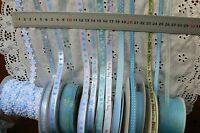 BABY BOY Ribbons 3-10mm Wide 1, 2, 3 & 5 Metres - 13 BLUE Asst Styles Choice