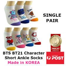 BTS BT21 Bangtan Boys KPOP Character Womens Short Lo-Cut Ankle Socks SINGLE PAIR