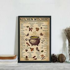 Witches Kitchen Witchery Magic Wall Art Paint Funny Poster Decor Gift For Friend