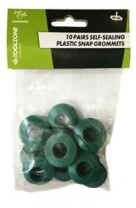 Toolzone 10 x Plastic Self Sealing Snap Eyelets Grommet Groundsheet Tarpaulin