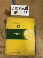 OEM John Deere 410 510 round baler technical manual TM-1194