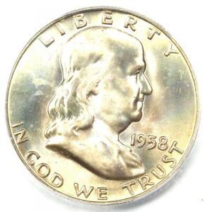 1958-D Franklin Half Dollar 50C - Certified ICG MS67 FBL FL - $1,190 Value!