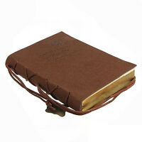 Classic Vintage Leather Bound Blank Pages Journal Diary Notebook HY