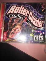 Roller Coaster TYCOON 3 PC 2004 CD-ROM With Manual