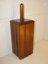 NEW  TOILET BRUSH HOLDER,  SOLID TIMBER/WOODEN