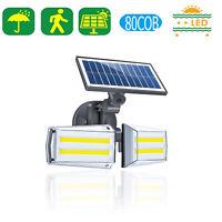 Solar 80 LED 80 COB Wall Light Outdoor Garden Waterproof PIR Motion Sensor Lamp