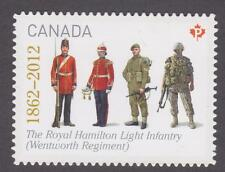 Canada 2012 #2579i The Regiments: Royal Hamilton Light Infantry - die cut Unused