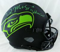 DK Metcalf Signed Seattle Seahawks F/S Eclipse Helmet w/ Insc - Beckett W Auth