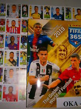 New Panini FIFA 365 2018 2019 Complete 494 Stickers Set & Empty Album