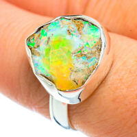 Ethiopian Opal 925 Sterling Silver Ring Size 8.5 Ana Co Jewelry R42515F