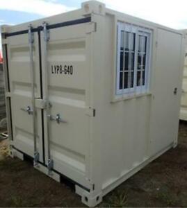 8' Office Container Door & Window Home Jobsite Construction
