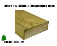 6x2 CLS Tanalised Timber C16 Structural Graded Studwork Timber Various Sizes