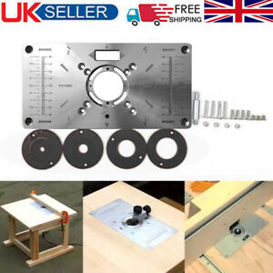 Router Table Insert Plate Woodworking Benches Aluminium Wood Router Engraving