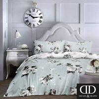 Super King Duvet Cover Bedding Set Dreams & Drapes Duck Egg Charlotte (1211)