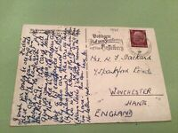 Germany Nurnberg 1935 special cancel   stamps card 50391