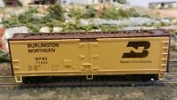 Athearn HO Wood Reefer Burlington Northern, WFE, New Style, Upgraded, Exc..