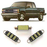 1 Dome 2 Map white LED Interior lights fits 1988-1998 Chevy Silverado/GMC Sierra