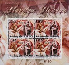 Marilyn Monroe 4-valeur STAMP SHEET #1 (2011 Burundi)