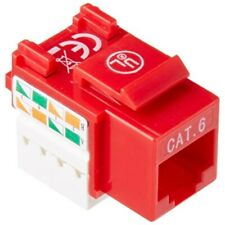intellinet cat6 utp punch-down keystone jack red