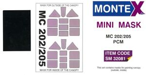 Montex 1/32 MACCHI MC.202 & MC.205 CANOPY PAINT MASK Pacific Coast Models