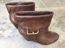 Nine West Brown Ankle Boots Size 5 M