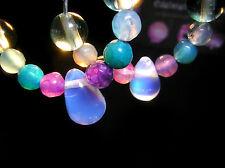 Ohrringe Wasser liebt Opal Unikat Handarbeit Creolen Opalit Achat Turmalin