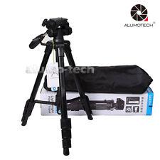 Folding Portable Tripod Monopod For Travel Canon Nikon DSLR SLR Camera+Carry Bag