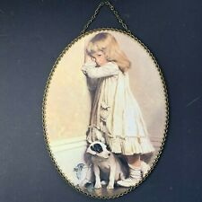 Flue Cover Vintage Replica Gallery Graphics Little Girl in the Corner with Dog
