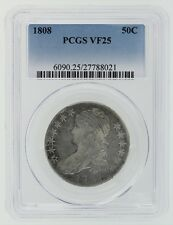 1808 Capped Bust Half Dollar PCGS VF 25 Cert# 27788021
