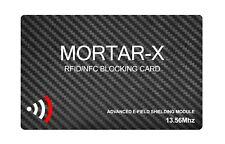 MORTAR-X RFID NFC BLOCKING CARD - Contactless Payment Data Blocker- ID Protector