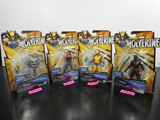 NEW & SEALED! MARVEL WOLVERINE SHADOW LOGAN CLAW SHADOW 4 ACTION FIGURE LOT 3419