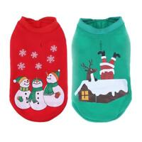 Pet Puppy Dog Cat Christmas Clothes Costume Santa Claus Outfit Coat Suit Apparel