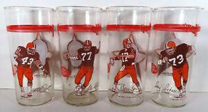 1981 Cleveland Browns SET OF 4 Wendys Glass Alzado Pruitt Sipe Dieken Dr Pepper