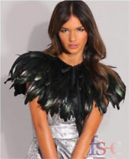 Feather Sewing Trimming Collar Peacock Shawls Wrap Fringe Evening Dress Skirt UK