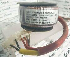 Trasformatore Toroidale  pot 200VA 50-60Hz 0-230 0-39V cod tam6 rossi franco 1kg
