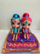 Fisher Price Nickelodeon Shimmer & Shine Magic Flying Carpet & 2 Dolls