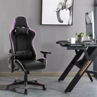 PU Leather Gaming Chair Racing Recliner Adjustable Back Office Computer Chair
