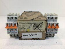 CBI QZ113DC1 60A Circuit Breakers QZD18160 - Lot of 6 - 1 Pole Units Curve 1