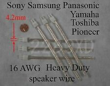 6 speaker connectors 4.2mm 16AWG made for select Sony Samsung Panasonic HT;Read!