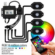 Raptor 4x4 LED Rock Lights 4pc Set Colour Change RGB Wireless Remote Control 6w