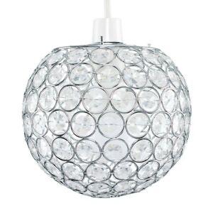 Modern Jewel Design Ceiling Light Shades Easy Fit Lighting Globe Acrylic Crystal