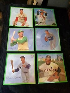 6 Vintage 1962 Sports Champions Records Mickey Mantle Koufax Willie Mays Spahn