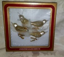 Vintage Christmas Fine Bird Feather Glass Clip On  Decorations Made In Germany