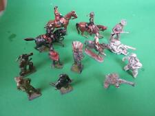Antique Lead Toys Soldiers Indians & Cowboys English Old Collection Estate 20's