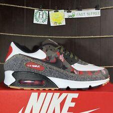 Nike Air Max 90 Remix Camo Denim White Black Red Cargo DB1967-100 Men's Size 10