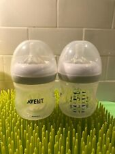 Philips Avent Natural 4 oz Bottle Set Of 2 with Level 1 Nipples