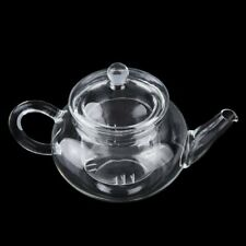 Heat Resistant Clear Glass Teapot With Infuser Coffee Tea Leaf Herbal Pot (&)