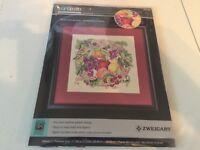 Artiste Zweigart Counted Cross Stitch Kit Array of Fruit #1388867 NEW